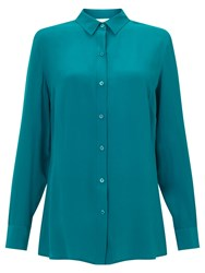 East Silk Shirt Teal