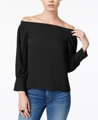 Bar Iii Off The Shoulder Top Only At Macy's Deep Black