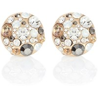 River Island Womens Gold Tone Jewel Cluster Stud Earrings
