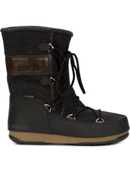 Moon Boot Lace Up Boots Black