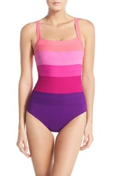 Women's Miraclesuit 'Spectra' Banded Maillot Fuschia