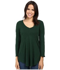 Mod O Doc Slub Jersey 3 4 Sleeve V Neck Tunic Cypress Women's Long Sleeve Pullover Green