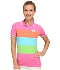 Bogner Danca Polo Shirt Screaming Pink Power Orange Turquoise Blue Fresh Green Women's Short Sleeve Pullover