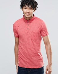 Brave Soul Short Sleeve Polo Shirt Red