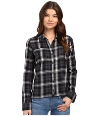Hurley Wilson Long Sleeve Button Up Black W Women's Long Sleeve Button Up