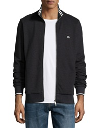 Lacoste Full Zip Tipped Track Jacket Charcoal