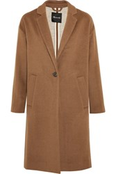 Madewell Monsieur Wool Blend Felt Coat Brown