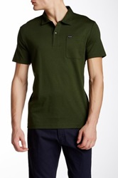 Faconnable Club Fit Short Sleeve Polo Green