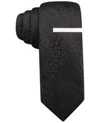 Alfani Red Tonal Paisley Skinny Tie Only At Macy's Black
