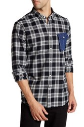 Wesc Gazak Plaid Long Sleeve Relaxed Fit Shirt Black