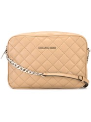 Michael Michael Kors Large 'Jet Set Travel' Crossbody Bag Nude And Neutrals