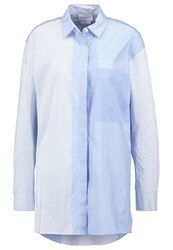 Dkny Shirt Oxford Blue Light Blue