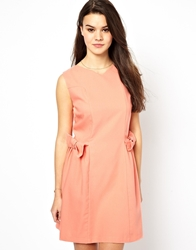 Jovonnista Mira Dress With Bow Detail Coral