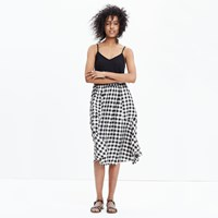 Madewell Sidewalk Midi Skirt In Buffalo Check