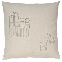 K Studio 4 Person Family Dog And Cat Pillow