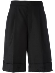 Thom Browne Distressed Tailored Shorts Black