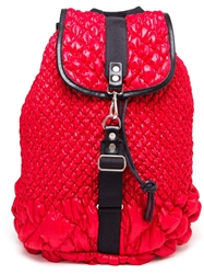 James Long Technofabric Backpack Red