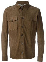 Eleventy Suede Shirt Brown