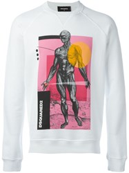 Dsquared2 'Sexy Muscle Fit' Sweatshirt White