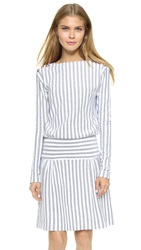 See By Chloe Long Sleeve Striped Dress Stoned Indigo