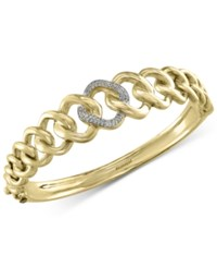 Effy Collection D'oro By Effy Diamond Pave Link Bangle Bracelet 1 5 Ct. T.W. In 14K Gold Yellow Gold