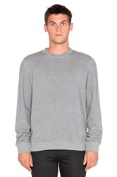 Naked And Famous Slim Crew French Terry Gray