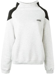 Golden Goose Deluxe Brand Funnel Neck Sweatshirt Grey