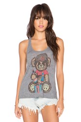 Lauren Moshi Nancy Color Juice Bear Tank Gray