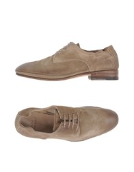 N.D.C. Made By Hand Footwear Lace Up Shoes Women Khaki