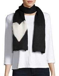 Wooden Ships Knit Heart Scarf Black