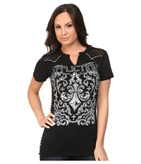 Affliction Integrate Short Sleeve Western Tee Black Lava Wash Women's T Shirt