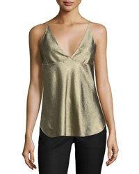 Derek Lam Sleeveless V Neck Camisole Gold