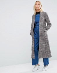 Helene Berman Drapey Longline Jacket In Red Tweed 3 Red