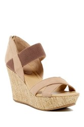 Kenneth Cole Reaction Sole Fit Wedge Sandal Beige