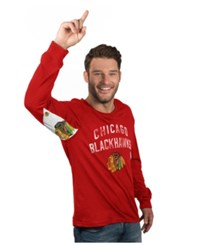 G3 Sports Hands High Men's Long Sleeve Chicago Blackhawks Play Action T Shirt