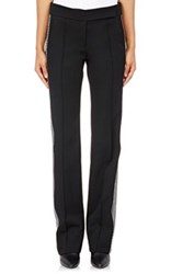 Paco Rabanne Women's Fine Twill Tuxedo Trousers Black
