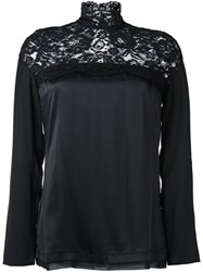 Twin Set Lace Panel Blouse Black