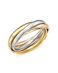 Bloomingdale's 14K Tri Gold Rolling Band Ring Multi