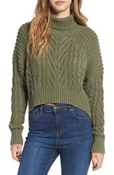 C Meo Collective Women's 'Two Can' Cable Knit Cotton Turtleneck Sweater