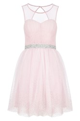 Quiz Pink Chiffon Crystal Prom Dress