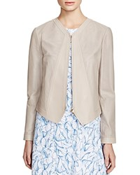 Tory Burch Nicki Perforated Leather Jacket Cement