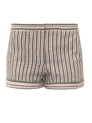 Talitha Striped Woven Cotton Shorts