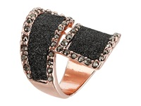 Guess Glitter Wrap Ring Rose Gold Hematite Ring Pink