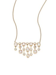 Adriana Orsini Sway Mixed Bezel Chandelier Necklace Gold