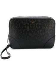Givenchy Logo Embossed Pouch Black