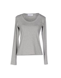 Kaos Topwear T Shirts Women Grey