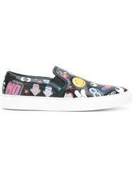 Anya Hindmarch 'All Over Wink Sticker' Sneakers Black
