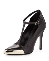 Jason Wu T Strap Leather Pump Black