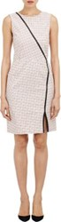 Boy By Band Of Outsiders Women's Leather Trimmed Sheath Dress Ivory