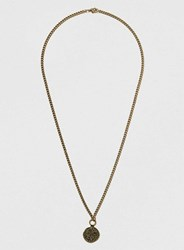 Topman Coin Pendant Necklace Metallic